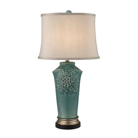 Dimond Lighting Organic Flowers LED Table Lamp in Seafoam