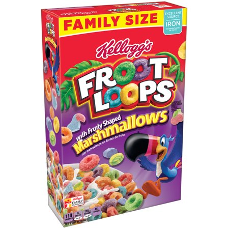 Cereal Dish - (2 Pack) Kellogg's Froot Loops Breakfast Cereal, Marshmallows, 18.7 Oz