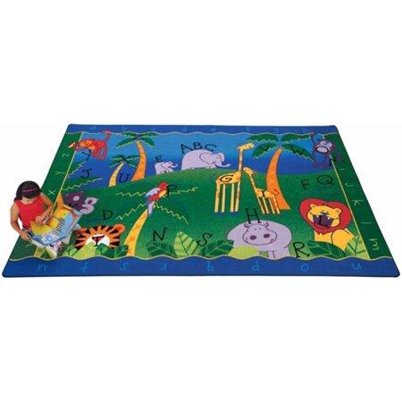 Carpets For Kids 9312 Alphabet Jungle 8.33 ft. x 11.67 ft. Rectangle - Alphabet Carpet