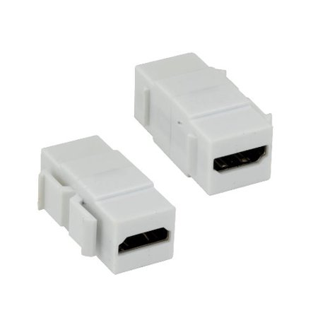 Kentek HDMI Keystone Jack Female to Female F/F Coupler Adapter Connector for Wall Plate White