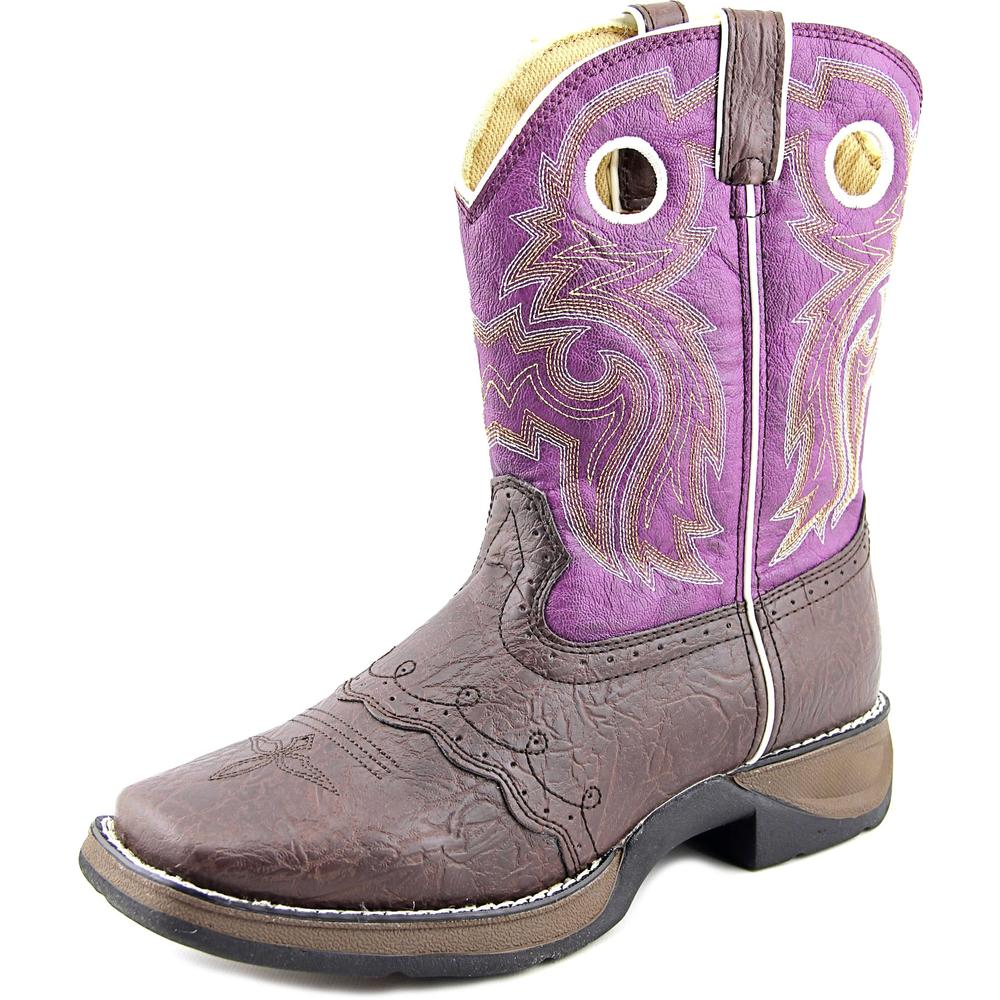 "Durango 8"" Western Boot Youth Square Toe Synthetic Western Boot by Durango"