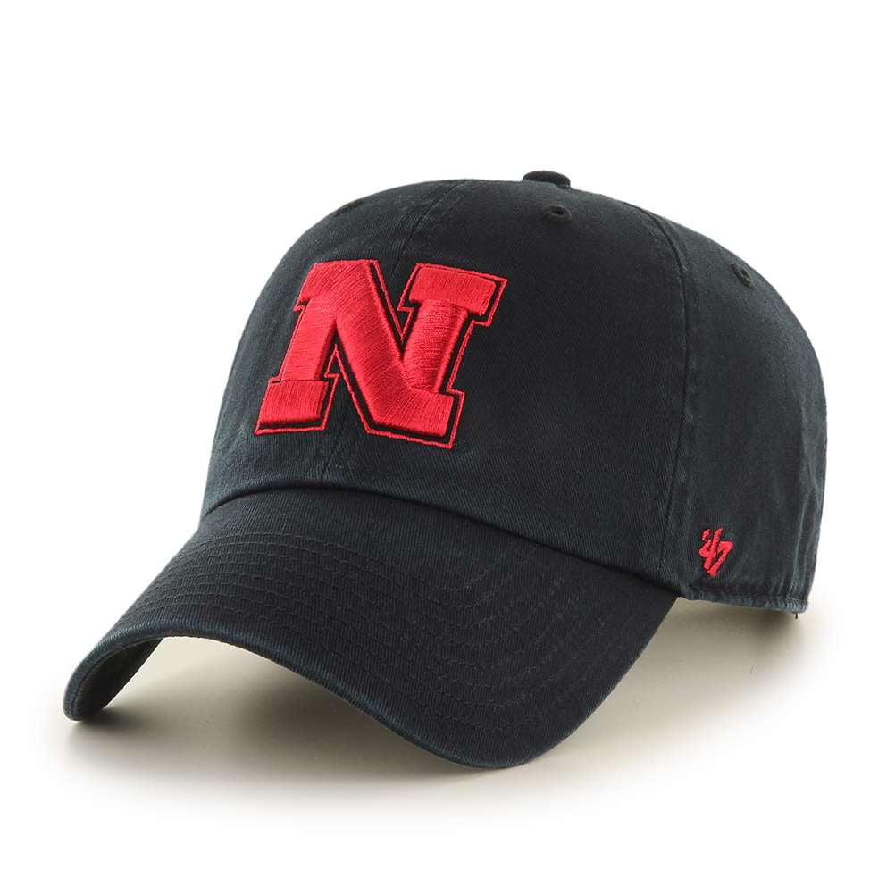 buy online 4166e 75e7b ... reduced nebraska cornhuskers 47 brand clean up adjustable hat black  e71b5 97550