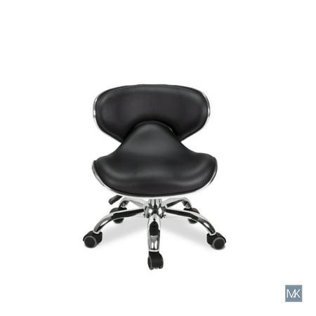 Peachy Salon Nail Stool Short Pedicure Chair Umi Black Pneumatic Adjustable Rolling Ibusinesslaw Wood Chair Design Ideas Ibusinesslaworg