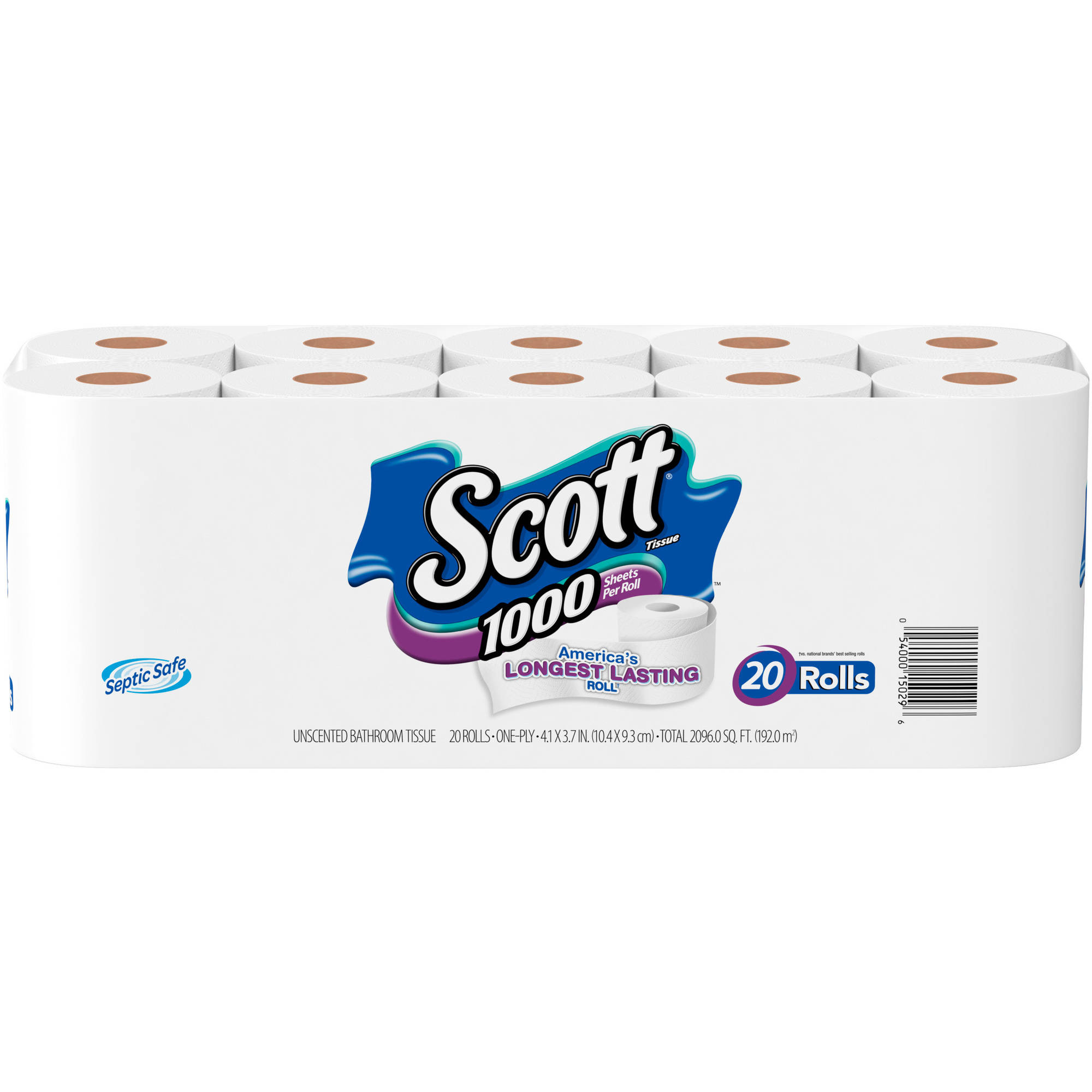 Scott One-Ply Bathroom Tissue, 20 count - Walmart.com