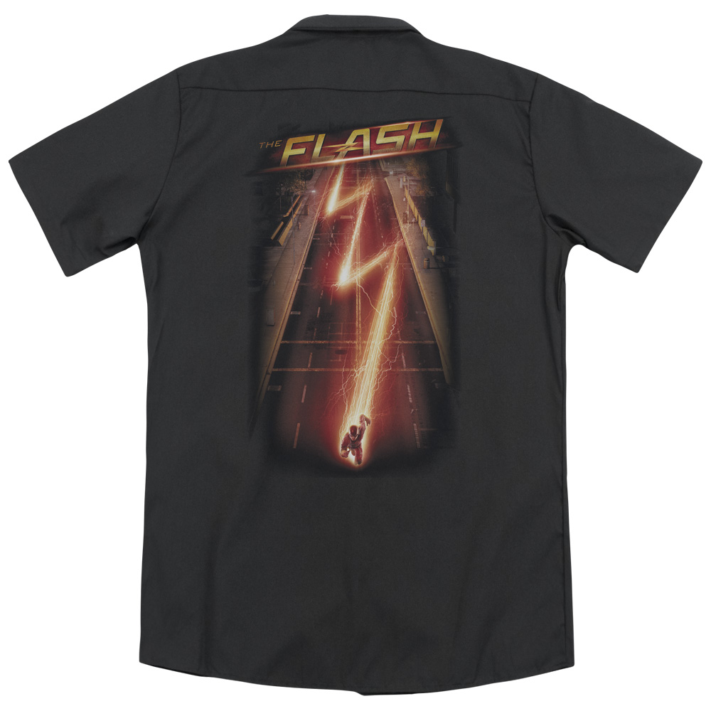 The Flash Flash Ave (Back Print) Mens Work Shirt