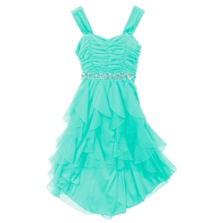 Rare Editions Big Girls Mint Cascade Party Dress  16