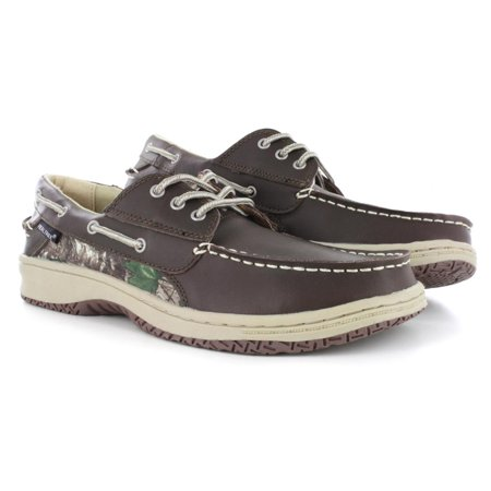RealTree Mason Brown Camo Men's Boat Shoe