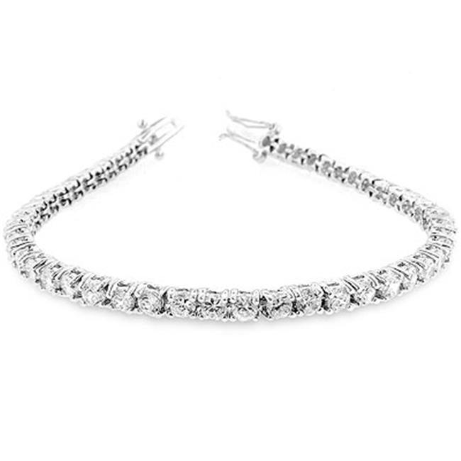 Kate Bissett B01003R-C01 Silvertone Victorian CZ Tennis 7 Inch Bracelet