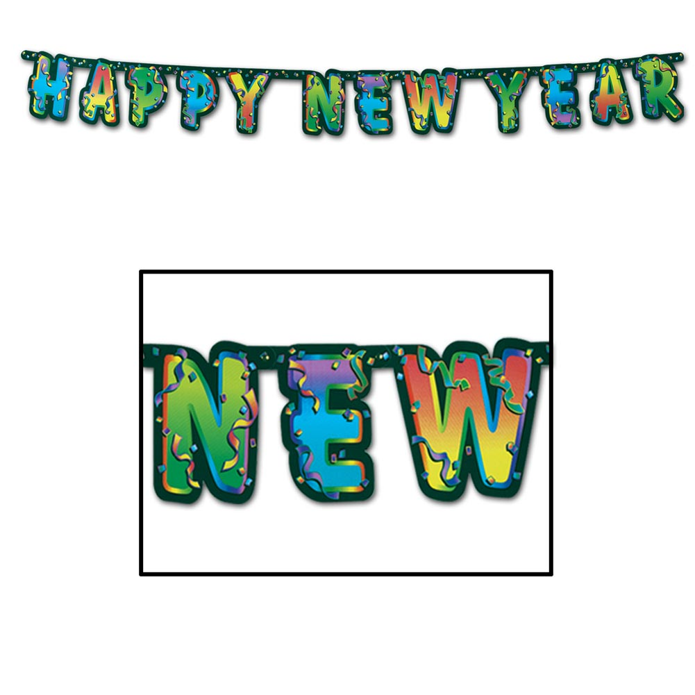 """Happy New Year"" Jointed Banner"