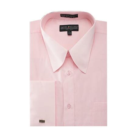Men's French Cuff Pat Riley Collar Dress Shirt Collar French Cuff Dress Shirt