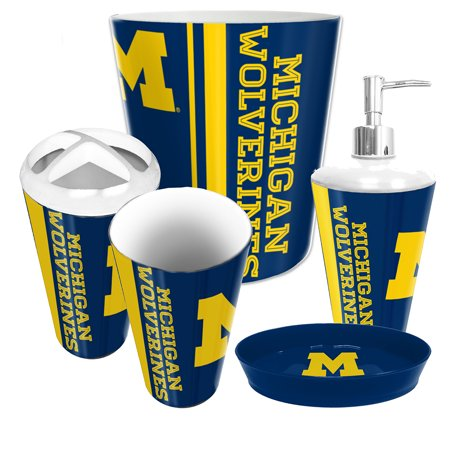 Northwest nor 1col944000021ret michigan wolverines ncaa for Complete bathroom accessories sets