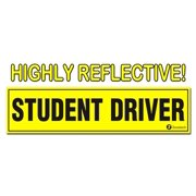 Zone Tech Student Driver Magnet REFLECTIVE Magnetic Vehicle Car Sign