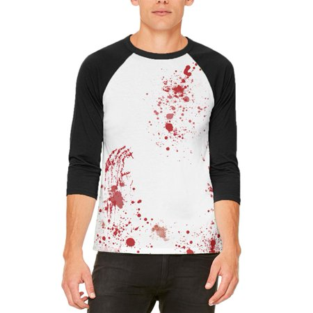 Halloween Blood Splatter Mens Raglan T Shirt