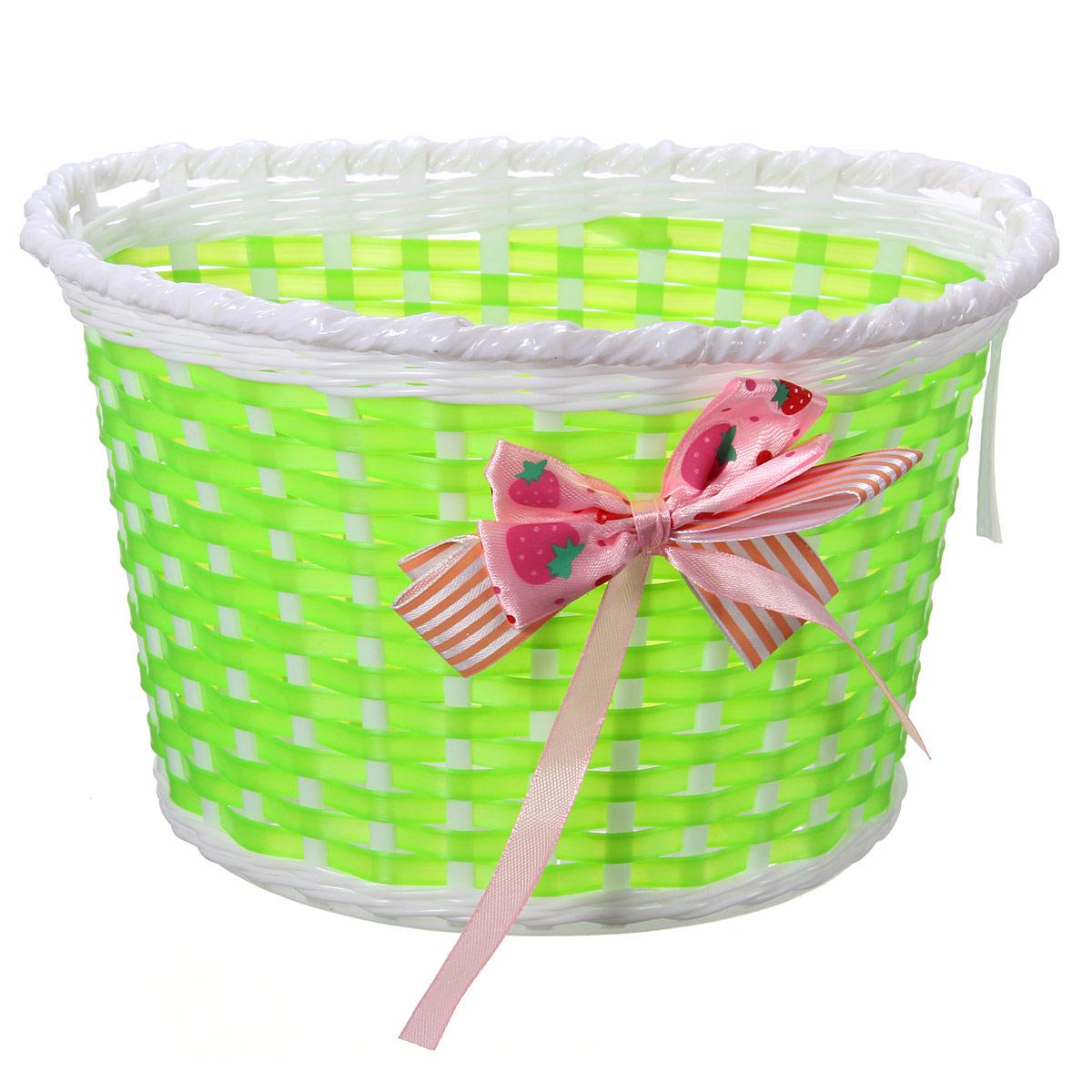 Kids Children Bike Wicker Plastic Bike Front Basket Shopping Holder Case