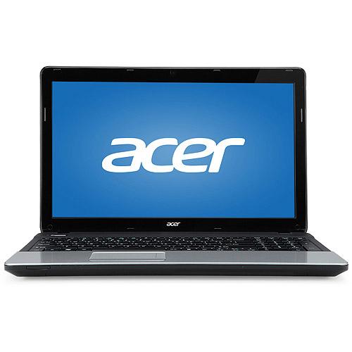 "Acer Black/Silver Aspire E E1-531-2438 15.6"" Laptop PC with Intel Celeron 1005M Processor, 4GB Memory, 500GB Hard Drive and Windows 7"
