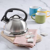 Mr. Coffee Flintshire 1.75 Qt Stainless Steel Whistling Tea Kettle