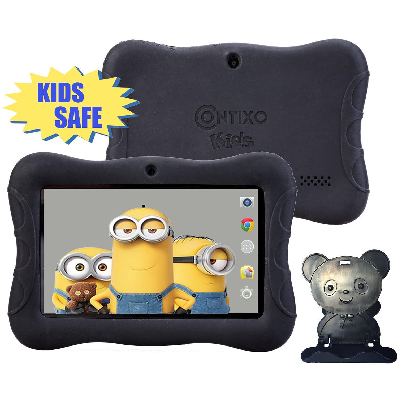 "Contixo Kids 3 Safe 7"" Tablet 8GB, WiFi, Camera, Free Games, Parental Control 7 inch screen Kids Black Tablet (70918989)"