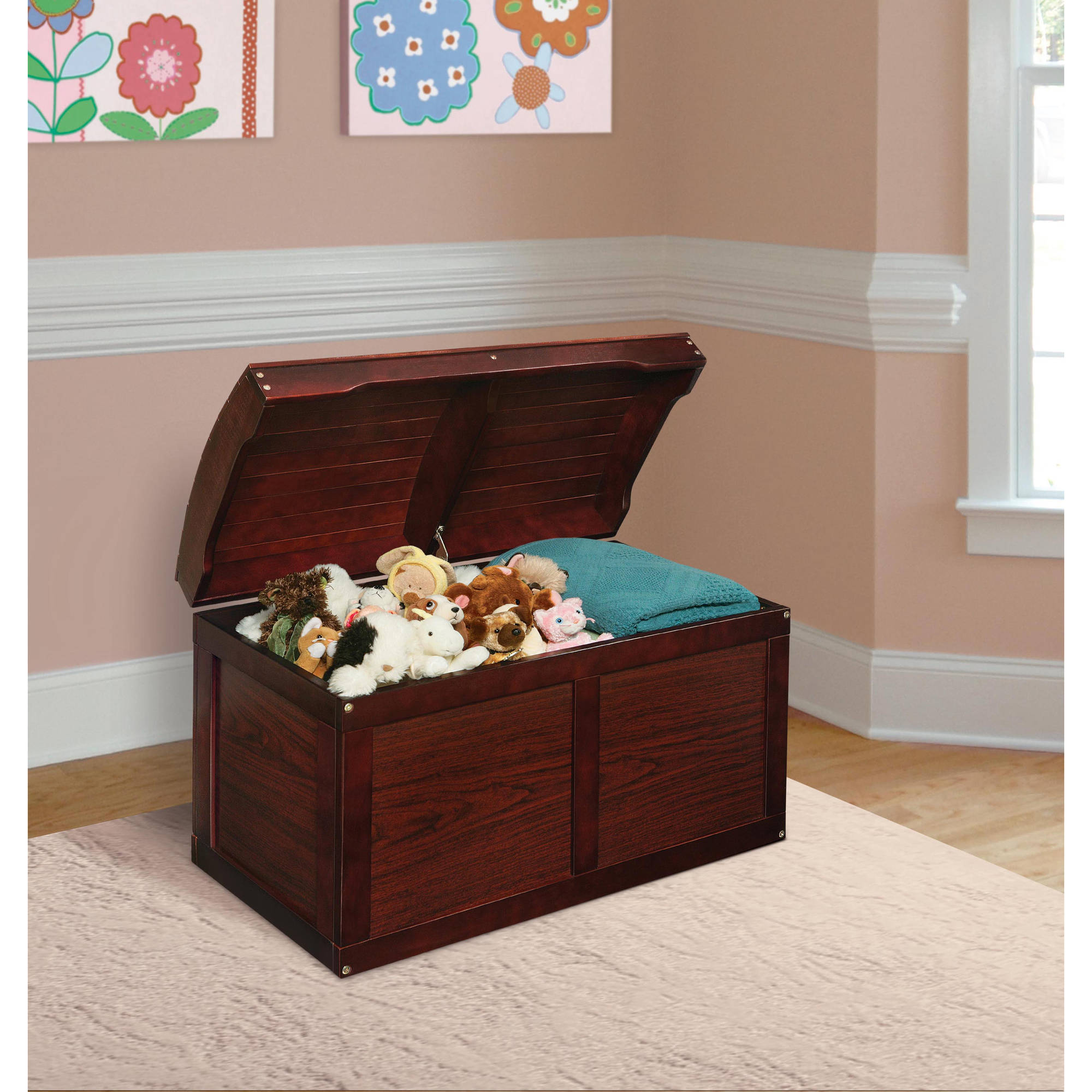 Badger Basket - Barrel Top Toy Chest, Multiple Colors