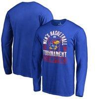 Kansas Jayhawks Fanatics Branded 2018 Big 12 Men's Basketball Conference Tournament Champions Long Sleeve T-Shirt -