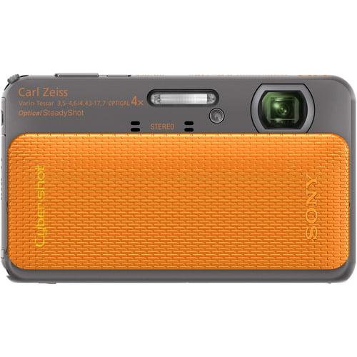 "Sony Cyber-shot DSC-TX20 Orange 16MP Digital Camera w/ 4x Optical Zoom Lens, 3"" LCD Touchscreen Display, HD Video, Waterproof"