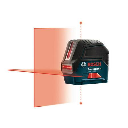 Bosch 165 ft. Self-Leveling Cross-Line with Plumb Points Laser Level (New Open (Best Laser Plumbs)