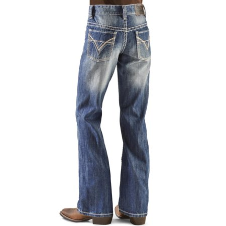 Rock & Roll Cowboy Boys' and Bb Gun Distressed Vintage Boot Cut Jeans Denim 4