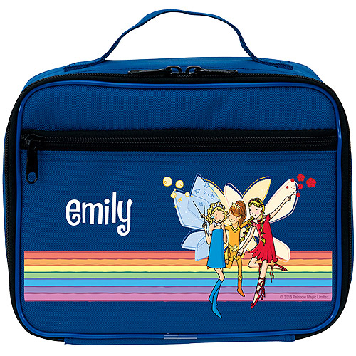 Personalized Rainbow Magic Sky, Amber & Ruby Blue Lunch Bag