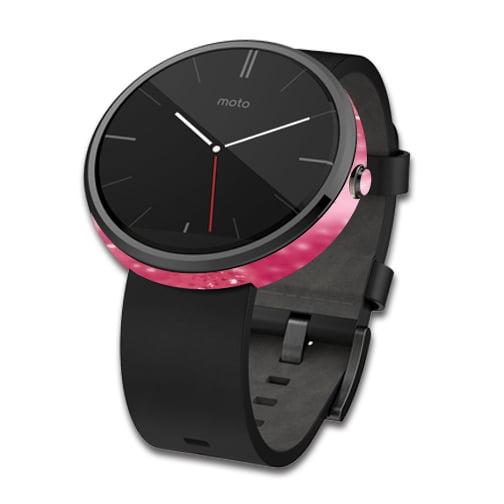 Skin Decal Wrap for Motorola Moto 360 Smart Watch cover Pink Diamonds