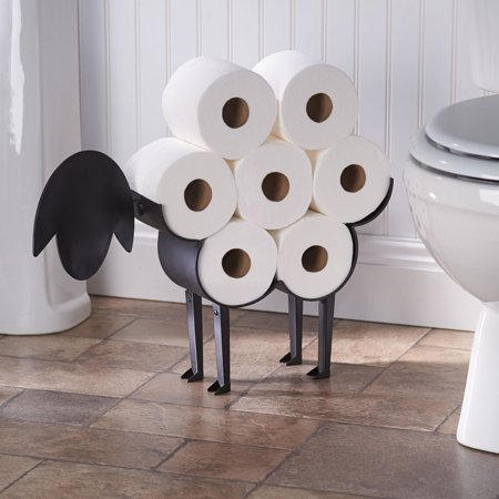 Sheep Toilet Paper Holder - Free-Standing Bathroom Tissue (Free Standing Tissue Holder)