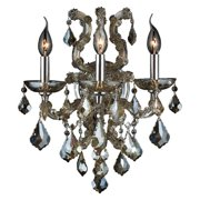 Worldwide Lighting Lyre 3-Light Wall Sconce