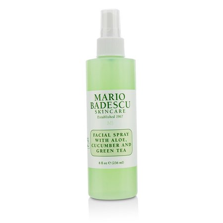 Mario Badescu Facial Spray With Aloe, Cucumber And Green Tea - For All Skin Types 236ml/8oz - Green Skin