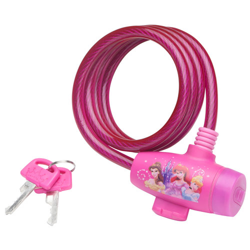 Disney Princess Bicycle Lock Pretty Pink Bike Lock with Keys