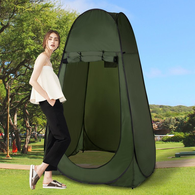 Lightweight Camping Shower Tent Folding Outdoor Toilet Room Pop Up Tent by