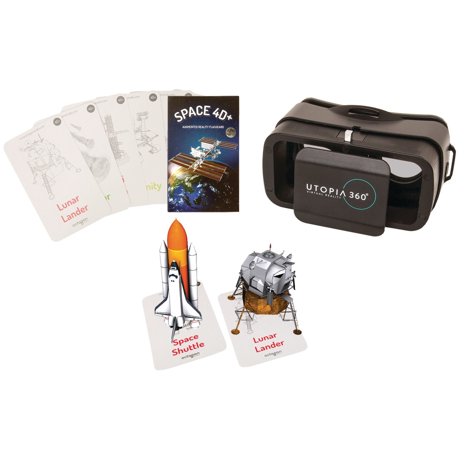 Retrak ETVRARSPAC 4D+ Utopia 360 VR Headset & Space Exploration Augmented Reality Cards