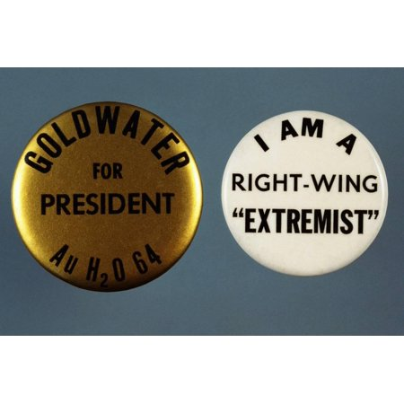 Goldwater Presidential Campaign Buttons Print Wall Art By David J. Frent