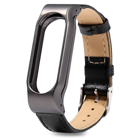 Hight Quality New Fashion Leather Smart Wrist Watch Strap for Xiaomi Mi Band 2 BK