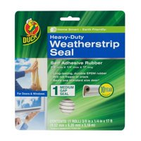 Duck brand heavy-duty weatherstrip seal for medium gaps, .38 in. x .25 in. x 17 ft. ( 2 pack)