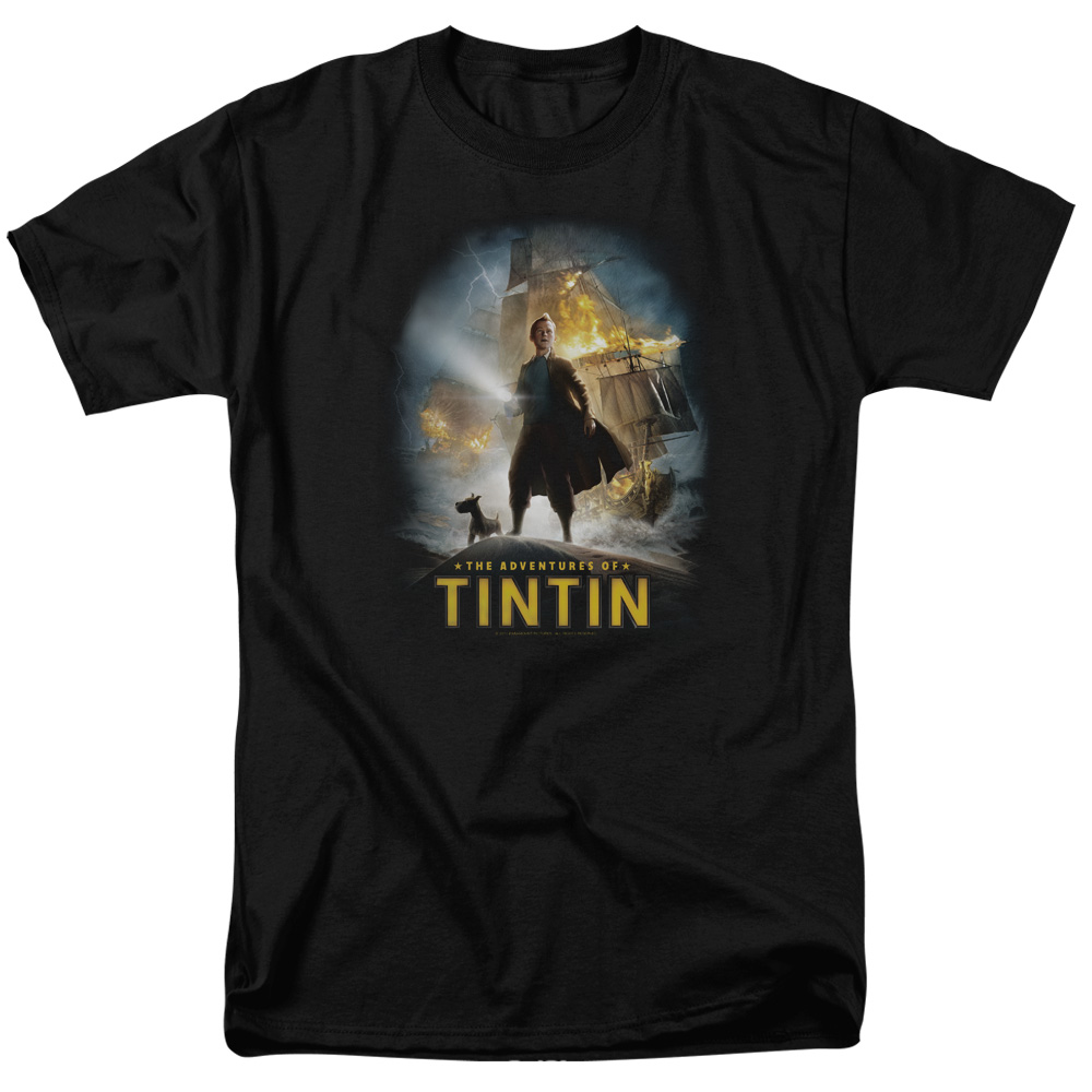 The Adventures of Tintin Poster Mens Short Sleeve Shirt