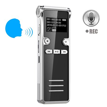 8GB Sound Mini Voice Recorder Activated Digital Voice Recorders under $25 -HD Recording Of Lectures And Meetings With Double Mic, Noise Reduction Audio Portable Mini Tape Dictaphone with MP3 function](Halloween Noises Mp3)