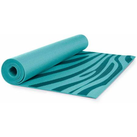 Lotus Teal Zebra Print Yoga Mat Walmart Com