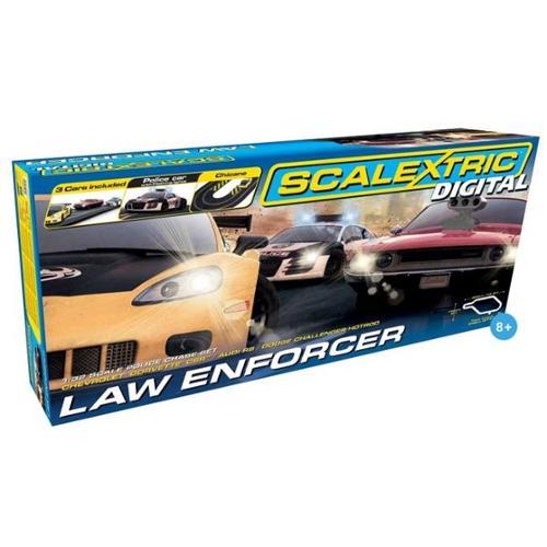 Scalextric C1310T Digital Law Enforcer 1-32 Digital Slot Car Race Set, Age 8 Plus