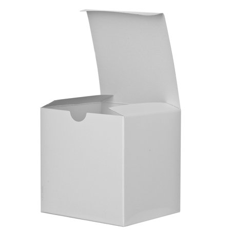 12 Pack Of Small Square High Gloss White Gift Boxes 6 X 6 X 6