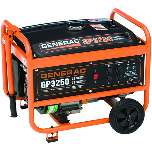 Generac 5789 GP3250, 3,250 Watt Portable Gas Powered Generator (CARB Compliant)