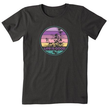 Life Is Good Womens Retro Wild Flower Crusher T-Shirt 16W Short ()