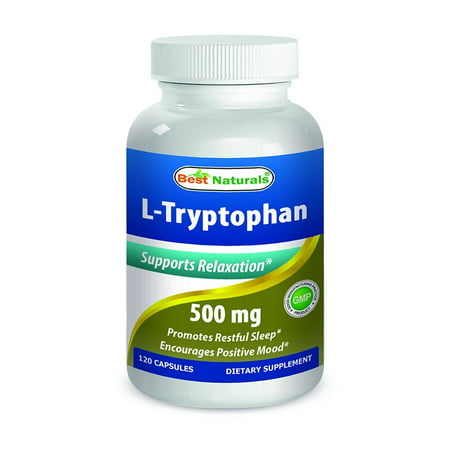 Best Naturals L-Tryptophan 500mg 120 Capsules - tryptophan supplements for natural way to get good night (Best Way To Orgasam)