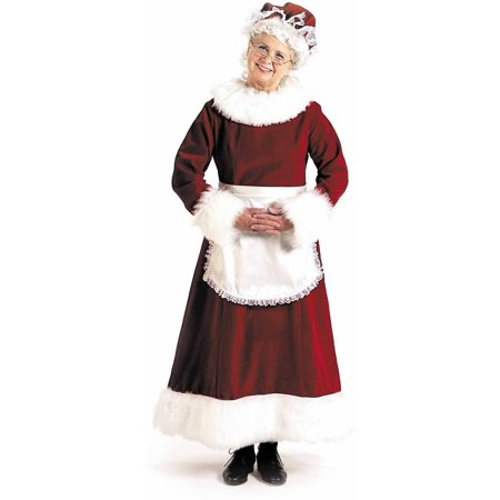 Mrs. Claus Dress Women's Adult Halloween Costume - Cheap Mrs Claus Costume