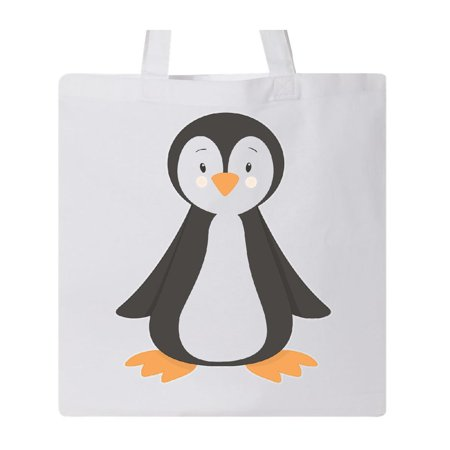 Blushing Penguin Tote Bag White One Size