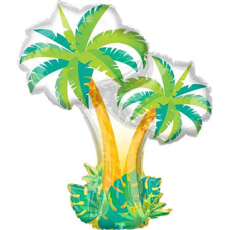 Palm Tree Out Of Balloons (Tropical Palm Trees Hawaiian Foil Balloon)