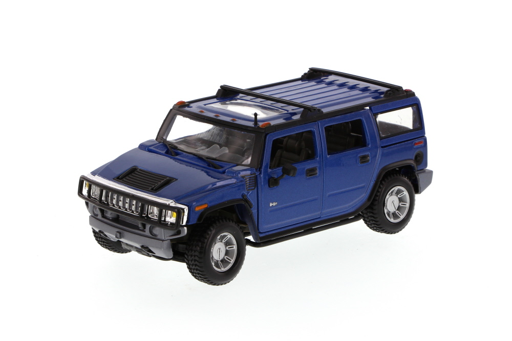 Hummer H2 SUV, Blue Maisto 34231 -1 27 Scale Diecast Model Toy Car (Brand but NOT IN BOX) by Maisto