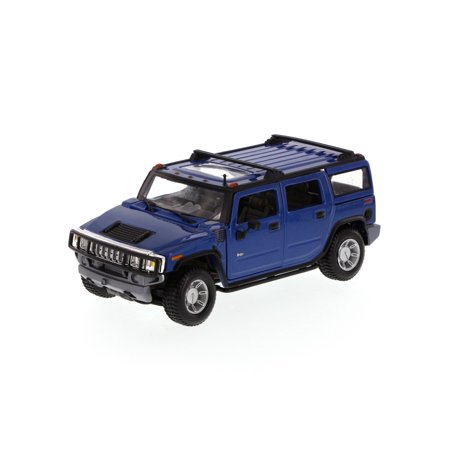 Hummer H2 Suv Blue Maisto 34231 1 27 Scale Cast Model Toy Car Brand New But Not In Box